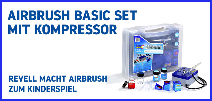 Airbrush Basic Set mit Kompressor 39199