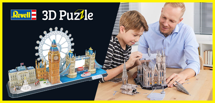 Revell 3D puzzle: The fun of handicrafts in 3D