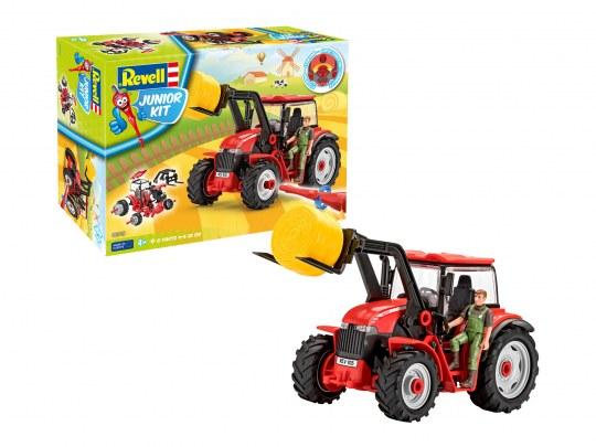 Traktor mit Lader und Figur