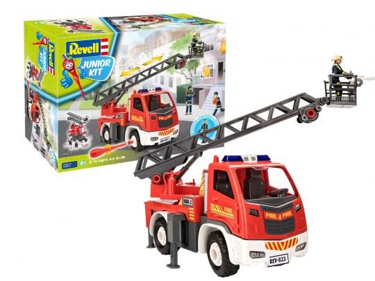Feuerwehr Leiterwagen mit Figur