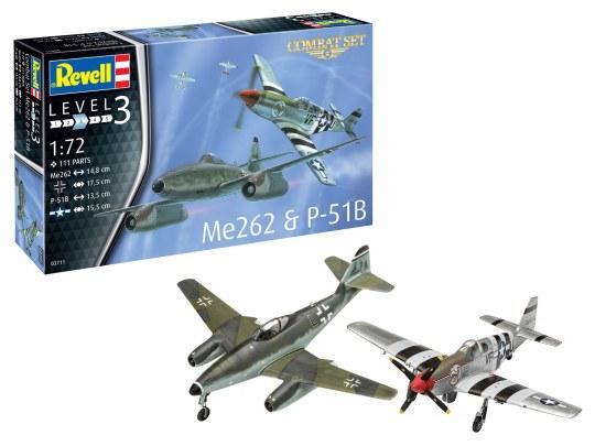 Combat Set Messerschmitt Me262 & P-51B Mustang