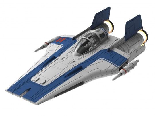 Star Wars A-Wing Fighter Blau
