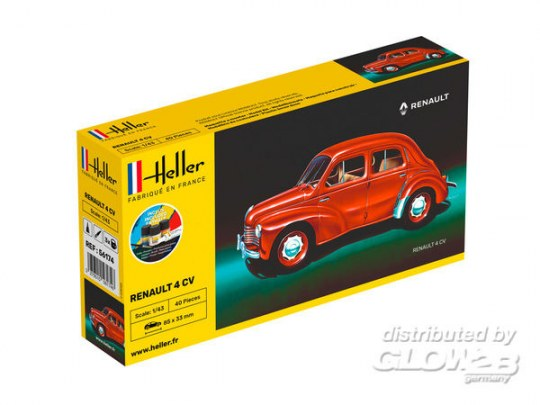 Heller - STARTER KIT Renault 4 CV