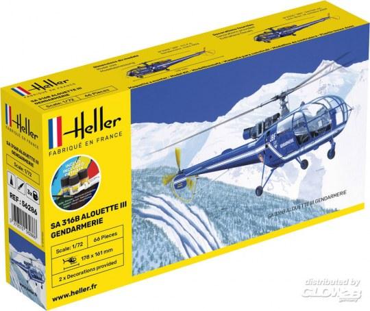 Heller - STARTER KIT SA 316 Alouette III Gendarmerie