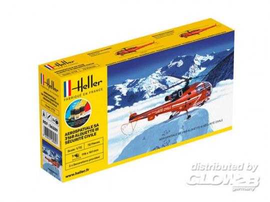 Heller - STARTER KIT Alouette III Sécurité Civile