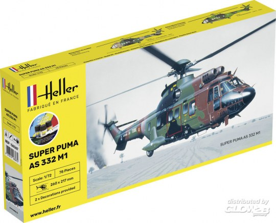 Heller - STARTER KIT Super Puma AS 332 M0