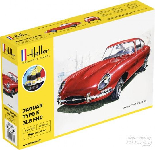Heller - STARTER KIT Jaguar Type E 3L8 FHC