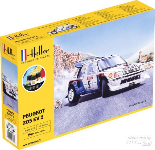Heller - STARTER KIT Peugeot 205 EV 2