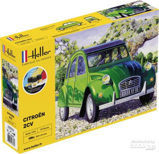 Heller - STARTER KIT Citroen 2 CV