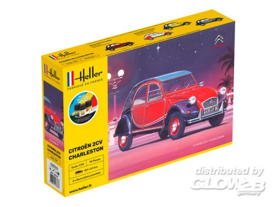 Heller - STARTER KIT Citroen 2CV Charleston
