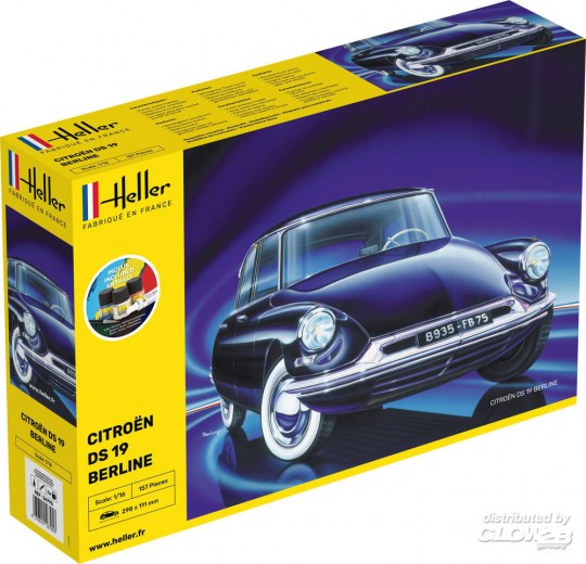 Heller - STARTER KIT Citroen DS 19