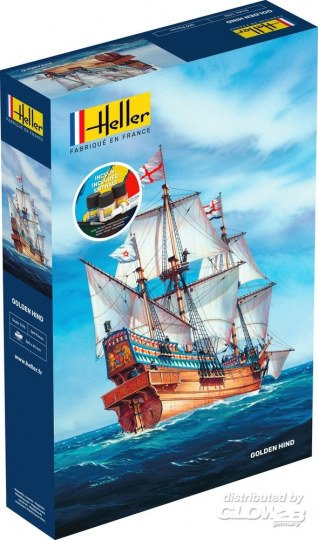 Heller - STARTER KIT Golden Hind