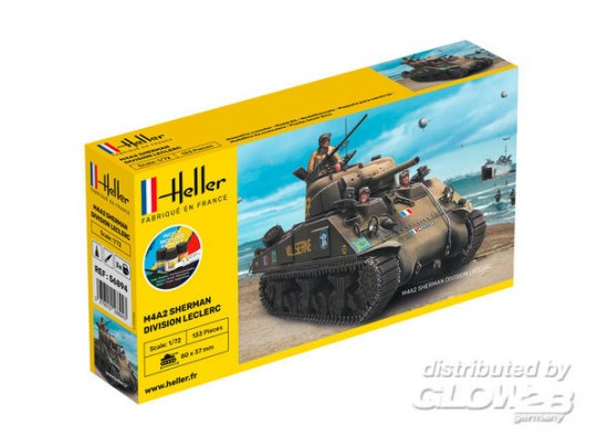 "Heller - STARTER KIT M4A2 Sherman ""Division Leclerc"""