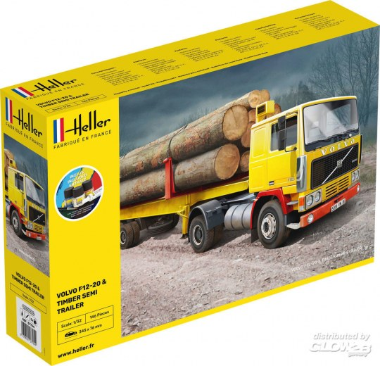 Heller - STARTER KIT F12-20 & Timber Semi Trailer
