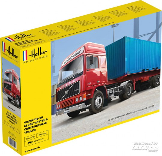 Heller - F12-20 Globetrotter & Container semi trailer