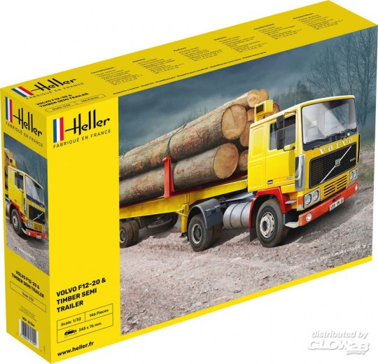 Heller - F12-20 & Timber Semi Trailer