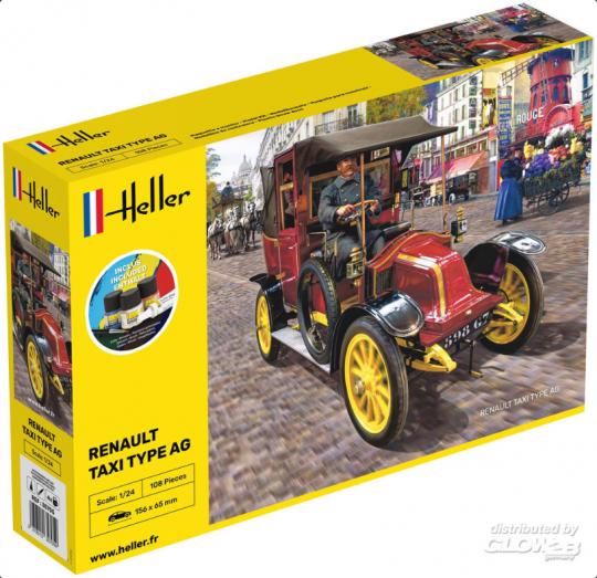 Heller - STARTER KIT Renault Taxi Type AG