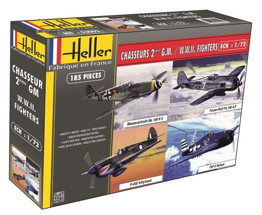 Heller - Chasseurs 2eme Guerre Mondiale (4 modele