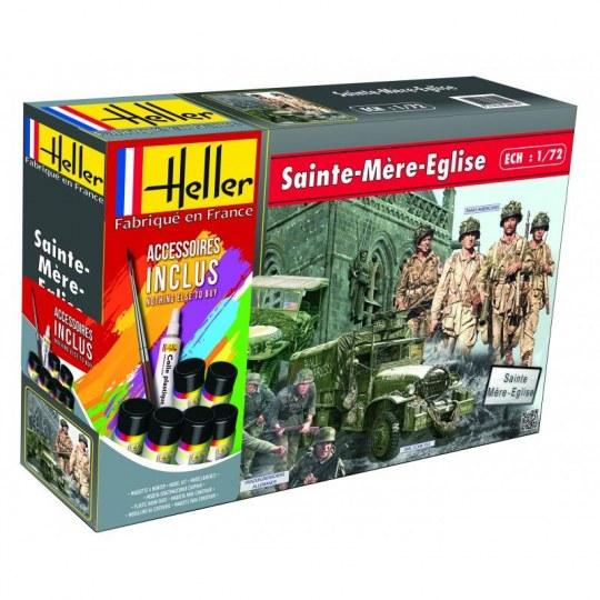 Heller - Sainte mere eglise(GMC,JEEP,2 sets de figurines)