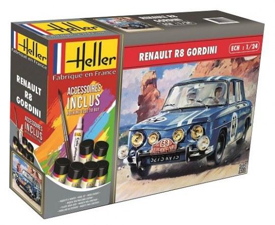 Heller - Renault R8 Gordini (m. accessories)