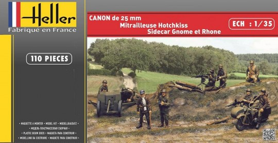 Heller - CANON DE 25mm+GNOME et RHONE+HOTCHKISS