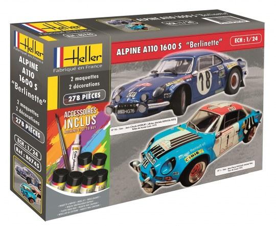 """Heller - Alpine A110 1600 S """"Berlinette"""" (incl. accessoires)"""