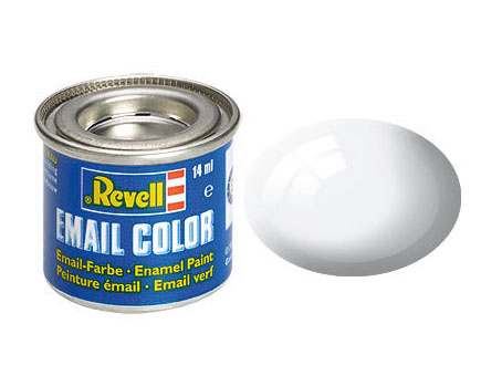 Email Color Blanc brillant, 14ml, RAL 9010