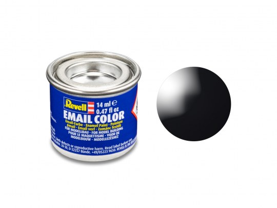 Email Color, Black, Gloss, 14ml, RAL 9005