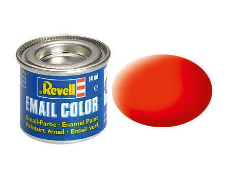 Email Color Orange fluo mat, 14ml, RAL 2005