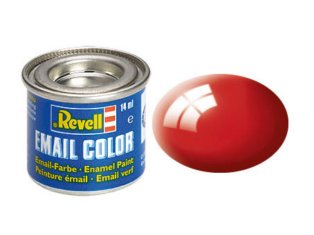 Email Color Rouge feu brillant, 14ml, RAL 3000