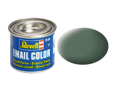 Email Color, Greenish Grey, Matt, 14ml, RAL 7009
