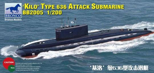 Bronco Models - Russian Kilo Type 636 Attack Submarine