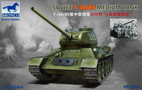 Bronco Models - Soviet  T-34/85 Medium Tank