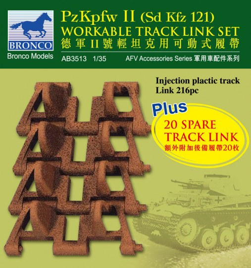 Bronco Models - PzKpfw II workable track link set