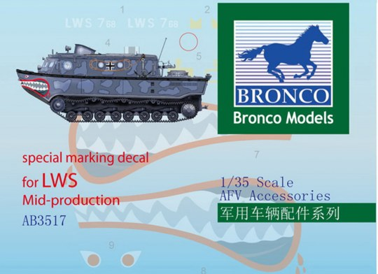 Bronco Models - Special Marking Decal for LWS Mid-Produk