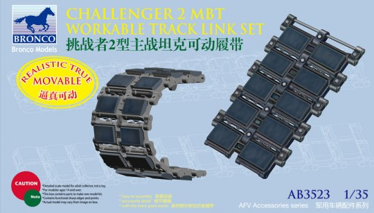 Bronco Models - British Challenger 2 MBT Workable Track Link Set