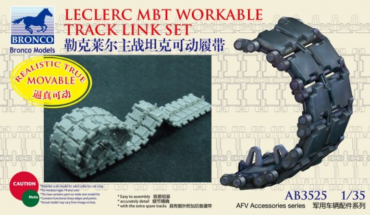 Bronco Models - French Leclerc MBT Workable Track LinkSe set