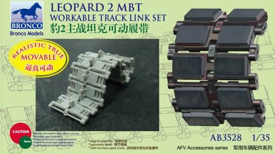 Bronco Models - German Leopard 2 MBT Workable Track Link Set