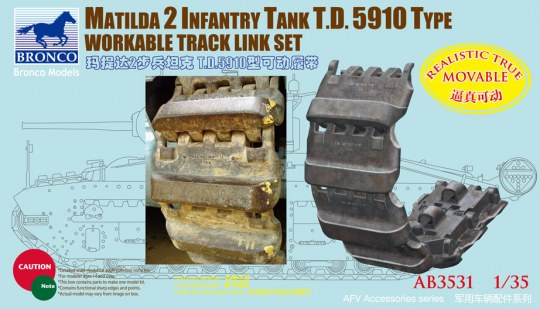 Bronco Models - Matilda 2 T.D.5910 Type Workable Track