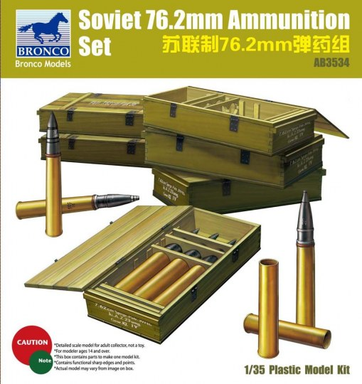 Bronco Models - Soviet 76,2mm Ammunition Set