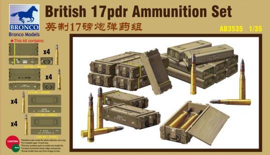Bronco Models - British 17pdr Ammunition Set