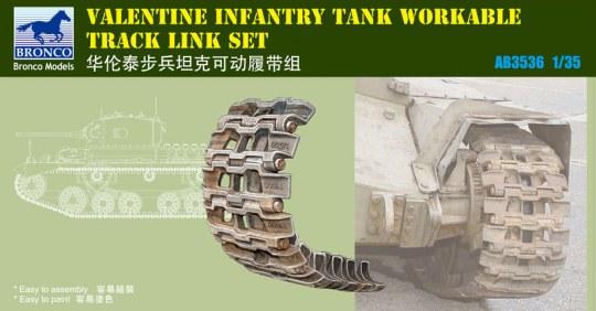 Bronco Models - British Valentine Tank Workable Track Li Link Set