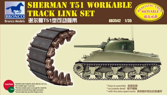 Bronco Models - Sherman T51 Workable Track Link Set