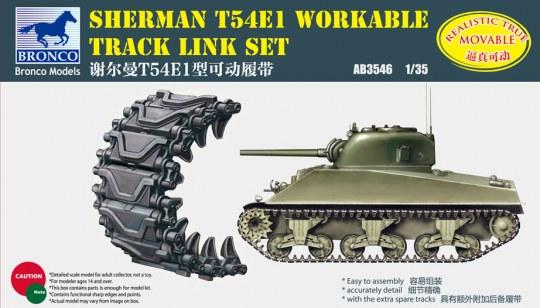 Bronco Models - Sherman T54E1 Workable Track Link Set