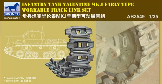 Bronco Models - Valentine Mk.I Early Workable Track Set