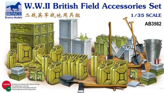 Bronco Models - WWII British Field Accessories Set