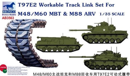 Bronco Models - T97E2 Workable Track Link Set forM48/M60 MBT