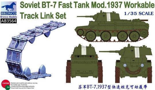 Bronco Models - Soviet BT-7 Fast Tank Mod.1937 Workable Track Link Set