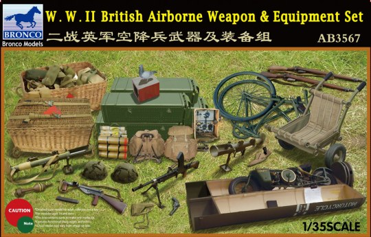 Bronco Models - W.W.II British Airborne Weapon&Equipment Set