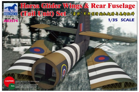 Bronco Models - Horsa Glider Wing &Rear Fuselage (Tail
